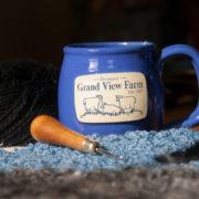 Vermont Grand View Farm Sheep Mug