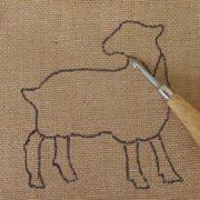 Gotland Sheep Rug Hooking Kit