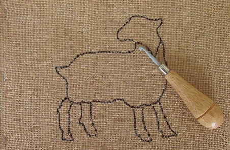 Gotland Sheep Rug Hooking Kit