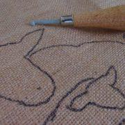 Ewe and Lambs Rug Hooking Kit