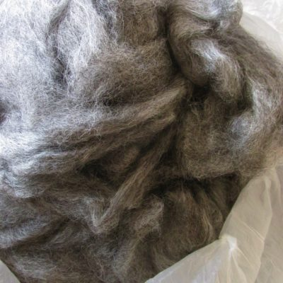 Pewter Gray Gotland Wool Roving