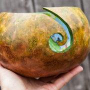Handmade Gourd Yarn Bowl