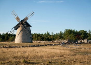 Windmill on Fårö Island