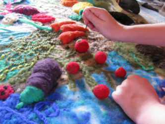 Needle Felted Mural Class