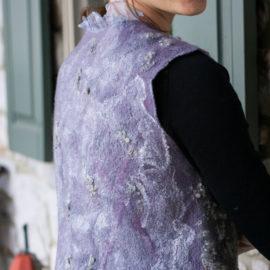 Plum – Nuno Felted Vest