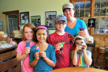 homeschool fiber class at VT Grand View Farm