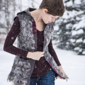 Felted Vest with Gotland Curls